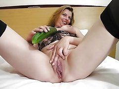 Naughty mature lady playing all alone