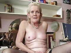 Horny mature women fucked at home
