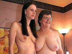mature mom happy to have find a new young girlfriend