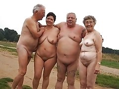 The oldest grannies posing naked