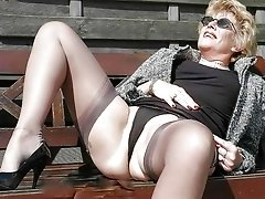 With spread legs these horny grannies want just one thing !