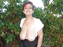 Amateur Mature Outside Posing