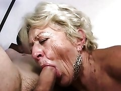 Granny gives blow job