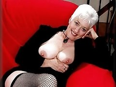 Blond mature with big tits