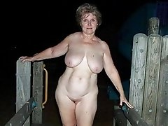 Plump old slut outdoor