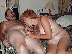 Raunchy mature slutty mom sucking