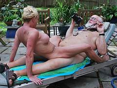 Mature couple gets horny fucking outdoor