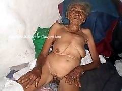 Old grannies posing nude