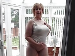 Blonde Huge Boobs Granny