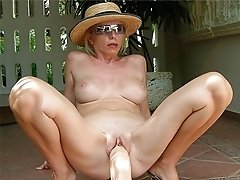 Lusty grandmas when hubby`s away