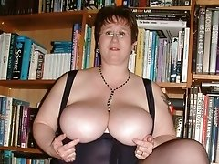 Naughty UK mature lady touching herself