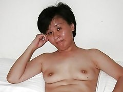 Asian mature tits and hairy pussy