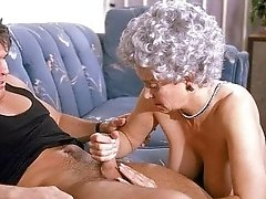Old woman decided to enjoy her last throbbing cock