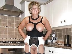 Big Titted Mature Blonde Lady