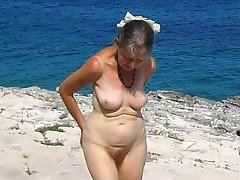 granny at the nudist beach