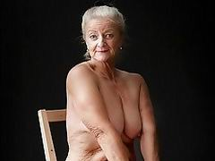 Granny with big tits and grey hair