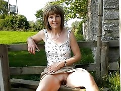 Sexy granny showing her old pussy