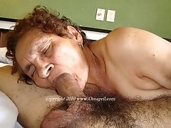 Old mature granny dick sucker