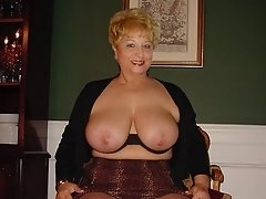Sexy blonde mature auntie wish some attention