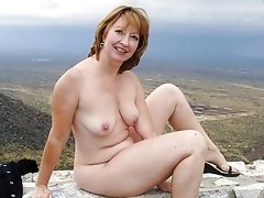 Inexperienced granny posing nude outdoor
