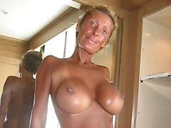 Lovely mature showing big tits