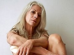 Madeline a 63 old sweet granny has a pierced old pussy