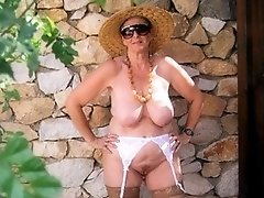 Older granny in sexy lingerie