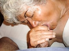 Old dick fucks old granny's mouth